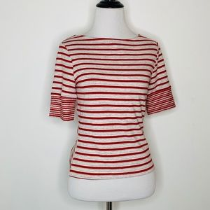 Anthropologie 3 Dots Etoile Striped Red Tee
